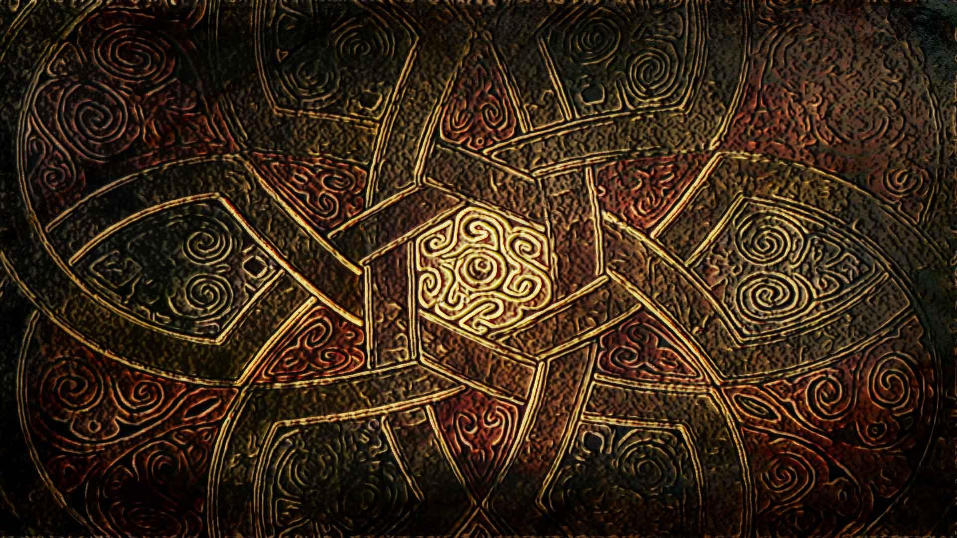 a velvet fabric featuring a Celtic knot design
