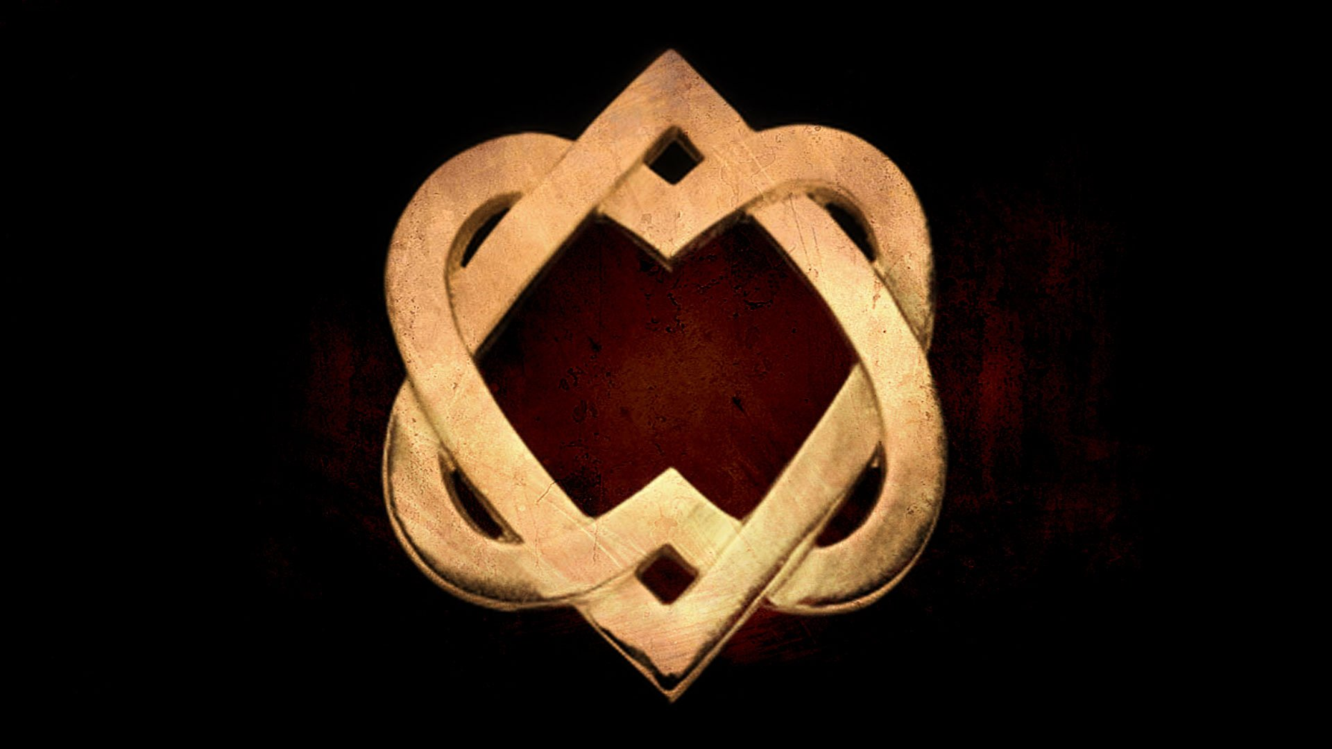 two intertwined Celtic hearts