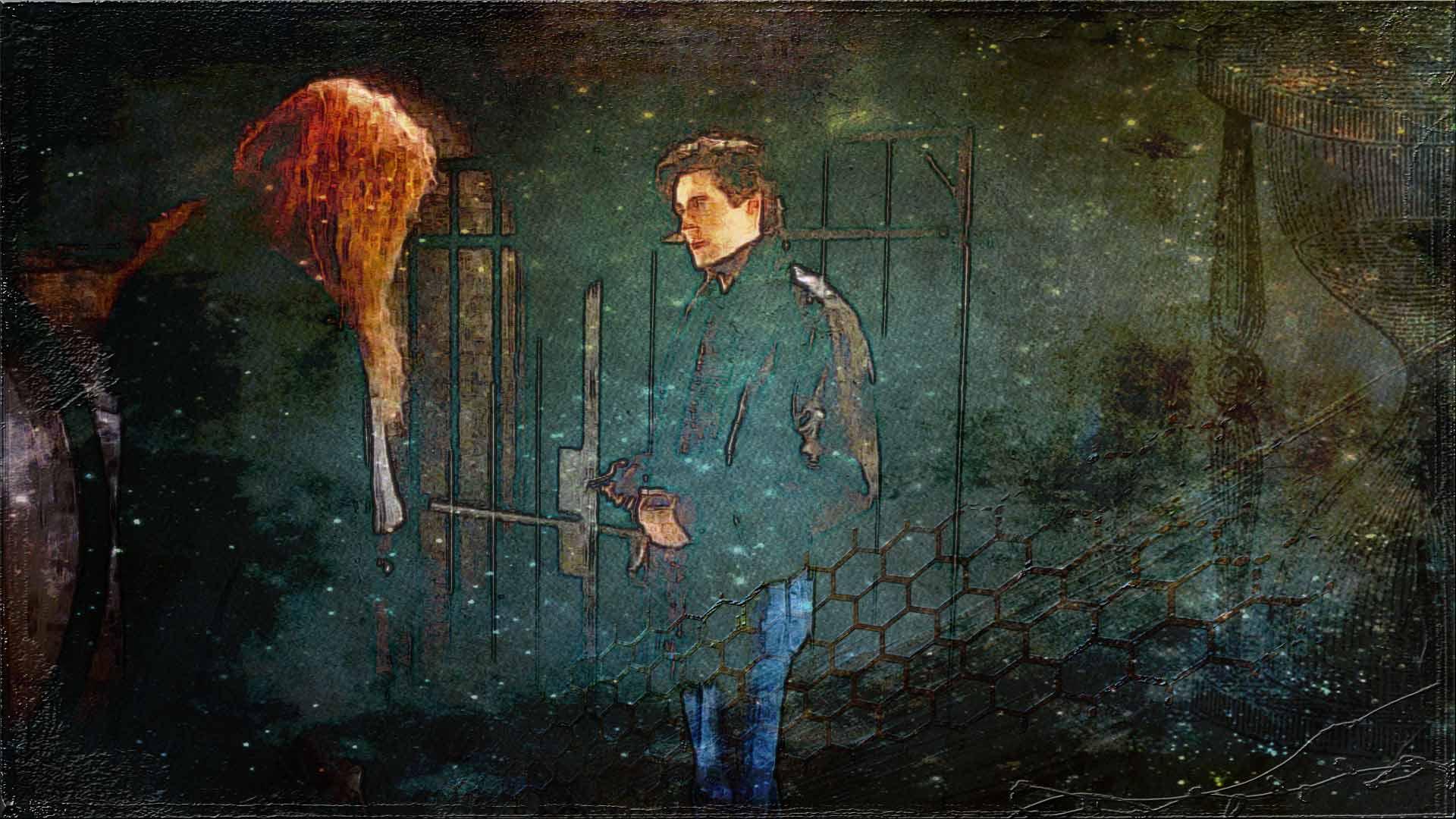 Vincent and Devin at the secret door