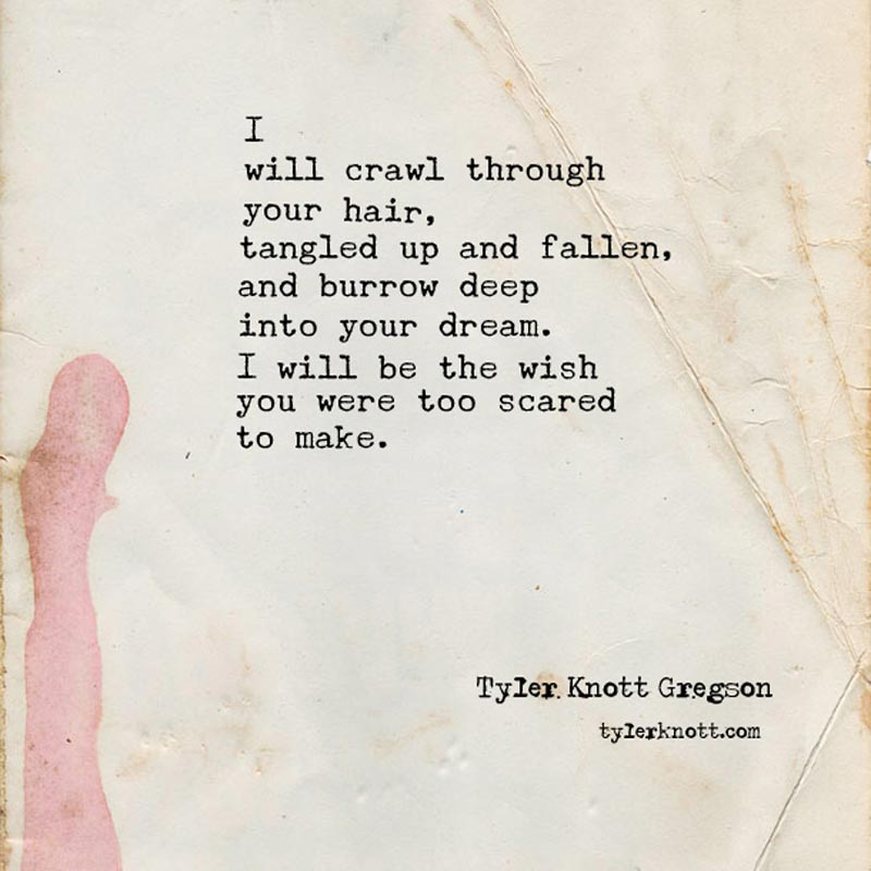 a typewritten poem on creased and stained heavy old paper