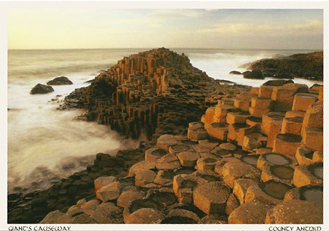 A postcard of The Giant's Causeway