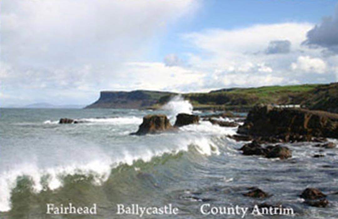 a postcard of Fairhead, Ballycastle, Country Antrim