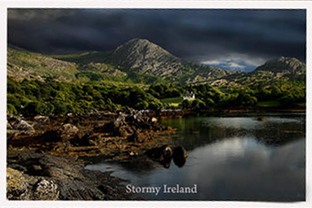 "a postcard of ""Stormy Ireland"""