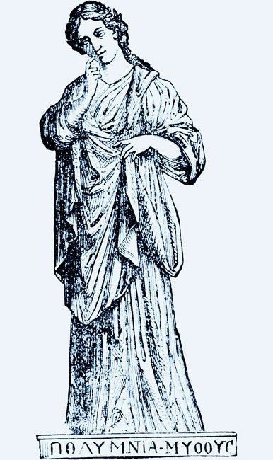 a drawing of the muse Polyhymnia
