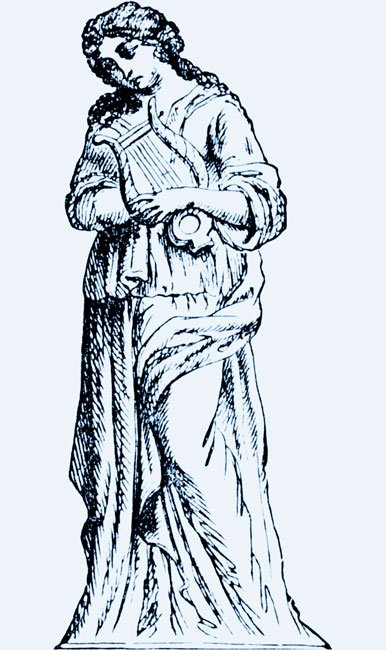 a drawing of the muse Terpsichore
