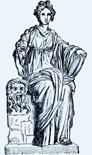 a drawing of the muse Thalia