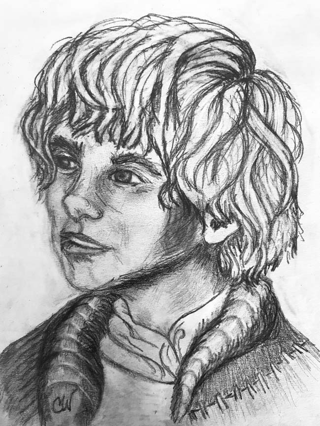 A drawing of Mouse ... younger